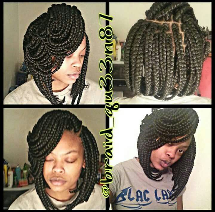 Box Braids - Bob box braids..idk who did em but she did that!