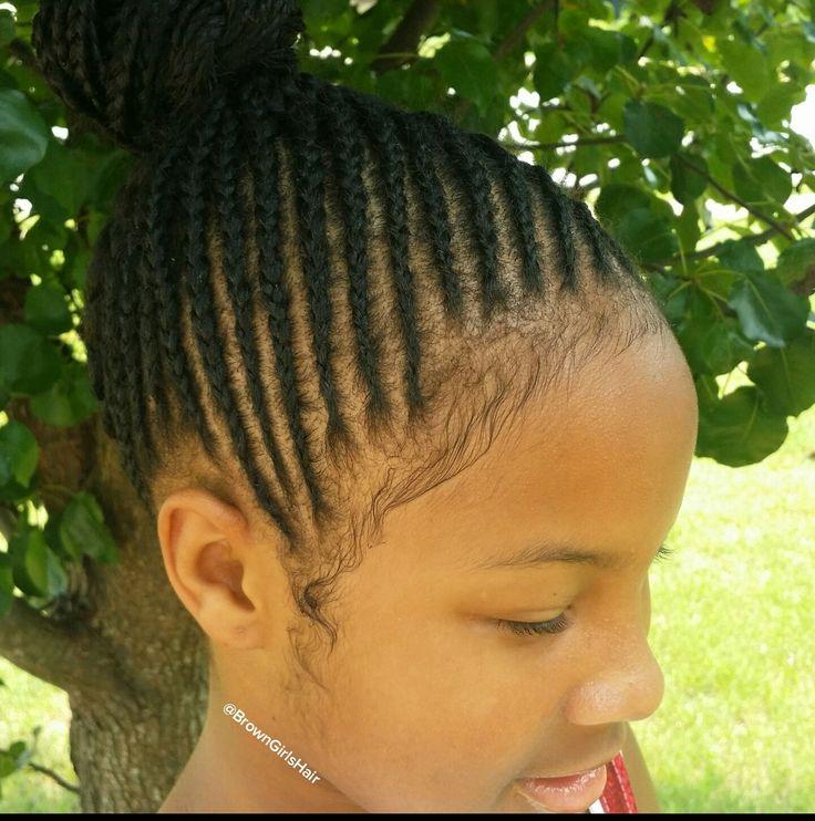 brown girls hair, braids, cornrows, kids, african american, hairstyles