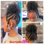 Children Braidings With Natural Hair