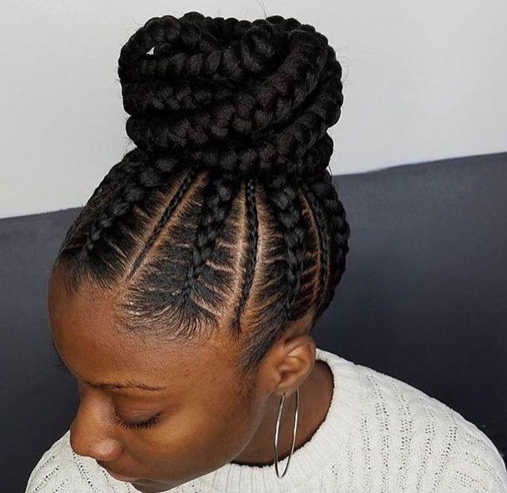 Flawless braided bun by @narahairbraiding - http://blackhairinformation.com/hairstyle-gallery/flawless-braided-bun-narahairbraiding/