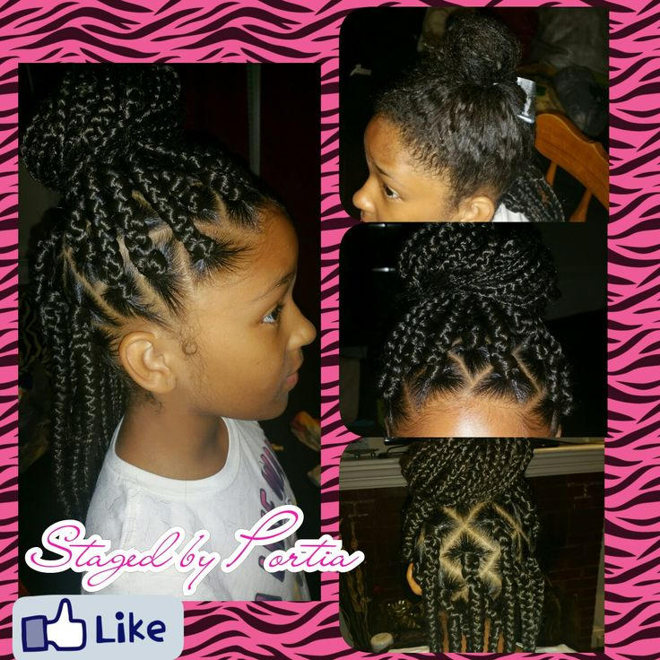 Little girl box braids More