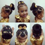 Bun Hairstyle For Your Christmas Princess