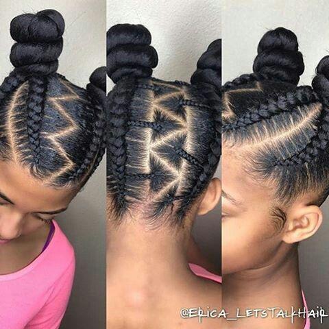 Stylish cornrow braids