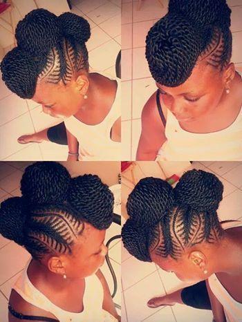 twist updo design braids