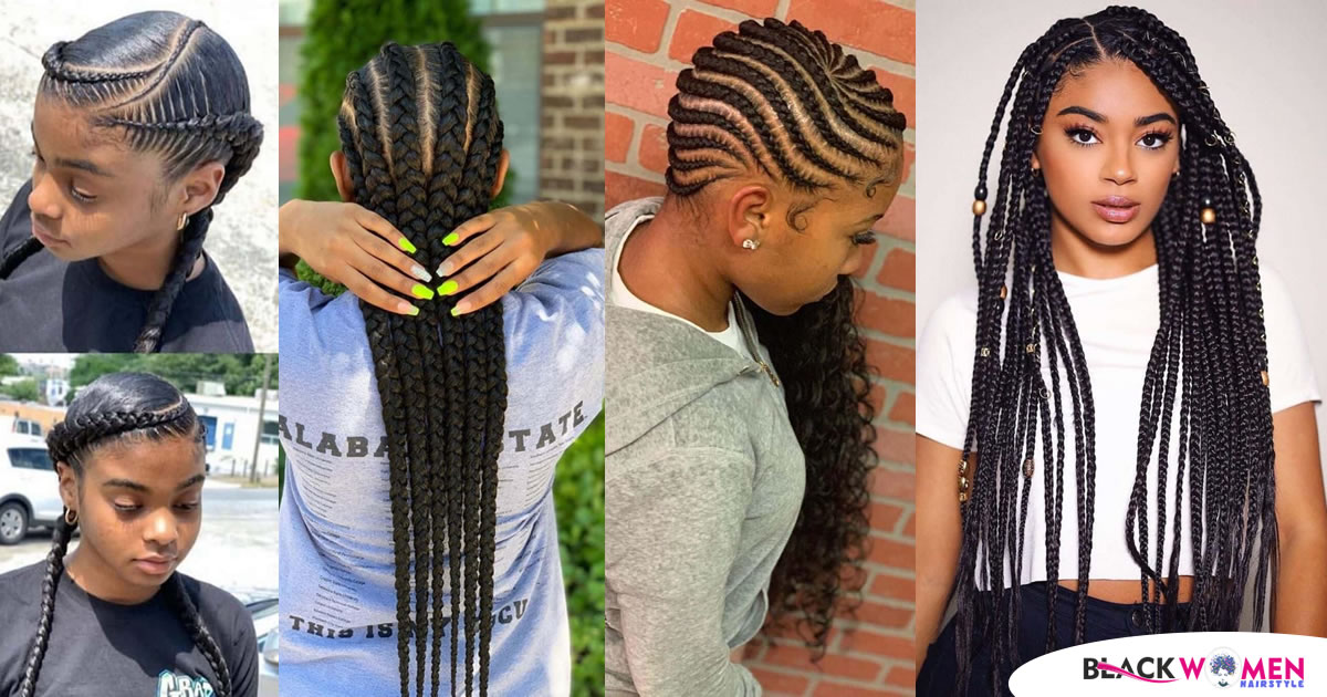 50 Aesthetic Braided Hairstyles African Braided Hair For Ladies 2020 Braids Hairstyles For Black Kids